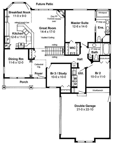 open house floor plans with pictures house plans open floor plan picture cottage house plans