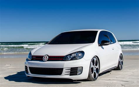 white volkswagen golf white volkswagen golf mk6 gti on the beach wallpapers and