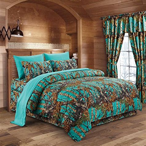 camouflage bedroom sets the woods teal camouflage queen 8pc premium luxury
