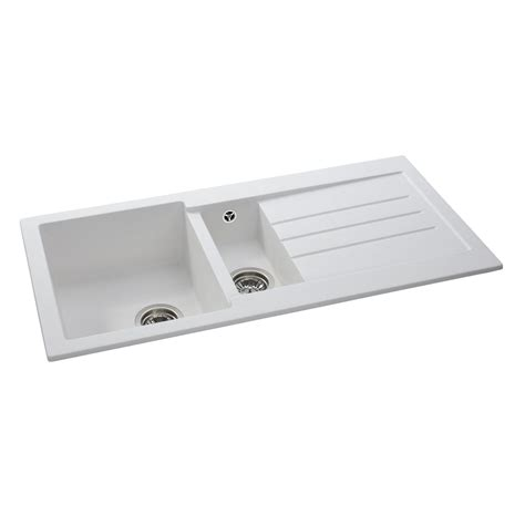 Kitchen Sink 1 5 Bowl Abode Aw3119 Xcite 1 5 Bowl Granite Kitchen Sink Sinks Taps