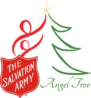 salvation army angel tree logo supporting salvation army with trees
