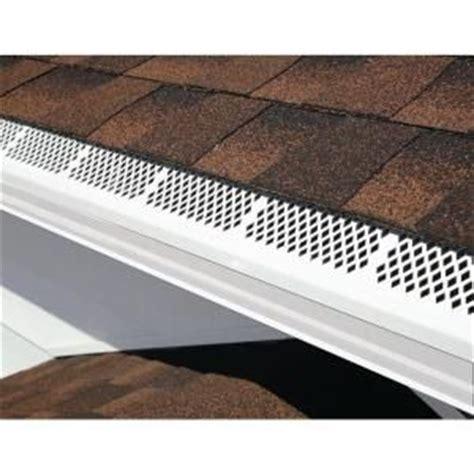 gutter guards 3 ft white snap in gutter guard 85270bx