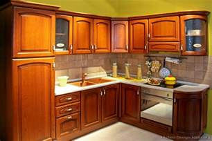Kitchen Woodwork Designs Pictures Of Kitchens Traditional Medium Wood Cabinets Golden Brown