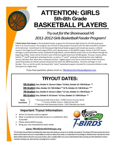 basketball tournament program template shoreline area news try outs for basketball sw