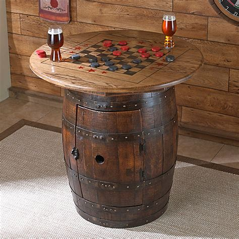 whiskey barrel table wine enthusiast