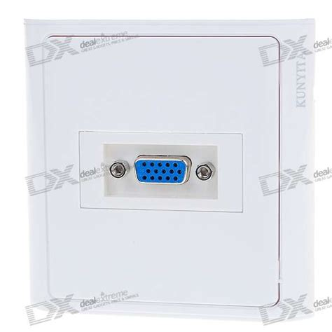 Vga Outlet 15 pin vga wall plate wall outlet free shipping dealextreme