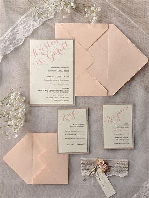 easy wedding invitations top 15 popular rustic wedding invitaitons idea sles on