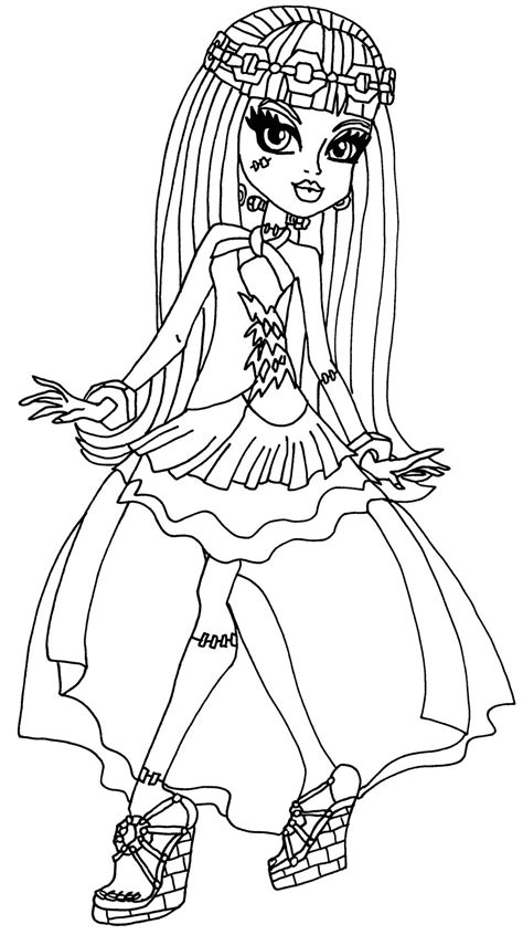 Coloring Pages Monster High 13 Wishes | frankie 13 wishes by elfkena on deviantart