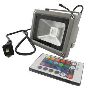 Remote Controlled Outdoor Lighting Waterproof Remote 10w Rgb Led Outdoor Floodlight Flood Light L 900lm Ebay