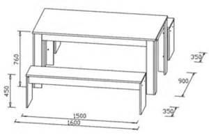 ensemble table et bancs contemporain ch 234 ne sonoma blanc