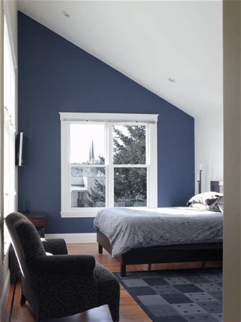 blue accent wall blue feature wall with white window and inclusion of