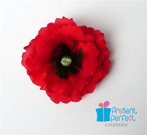 red poppy corsage veteran poppy flower remembrance poppy