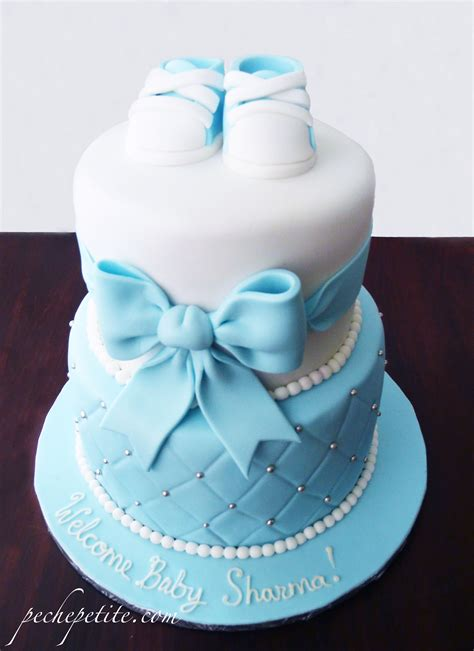 baby boy shower cakes peche petite
