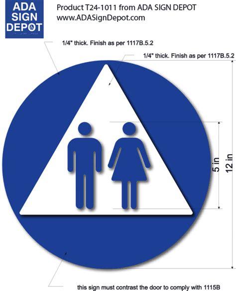unisex bathrooms california image gallery handicap restroom signs triangle