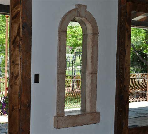 interior  exterior cast stone window trim  chiseled
