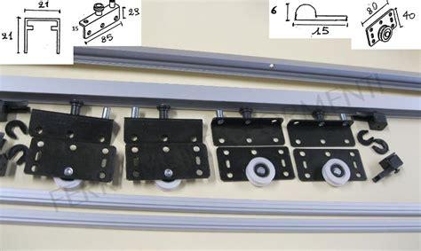 sistemi scorrevoli per armadi sistema scorrevole per armadio a 2 ante max 50kg vano cm 200