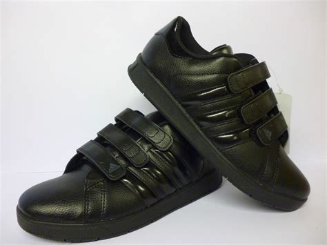 adidas school sneakers adidas boys black velcro trainers school shoes size 5 new