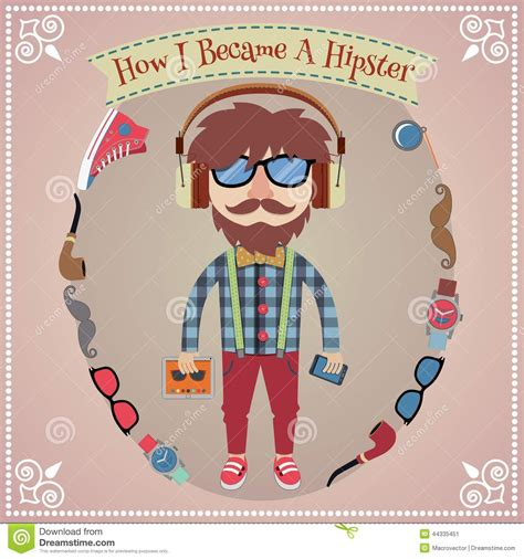 poster design elements vector hipster boy poster stock vector image 44335451