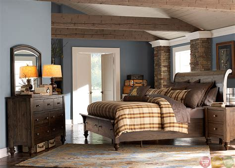 rustic pine bedroom furniture southern pines solid pine rustic finish storage bedroom set