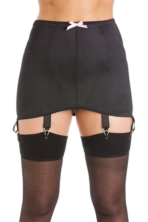 satin girdles for men womens ladies black satin girdle suspender belt 6 strap