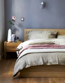 grey walls a bedroom with oak furniture and grey pink textiles pretty things the colors