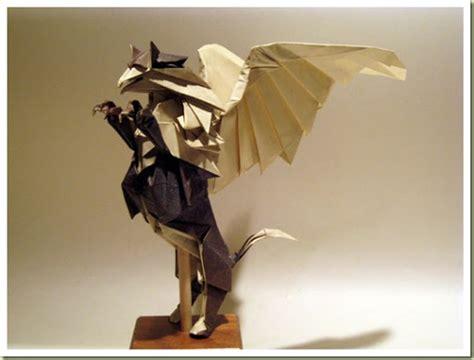 Origami Gryphon - random image for unique origami origami