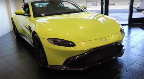lime green aston martin lime essence 2018 aston martin vantage gets walkaround