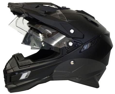 Helm Cross motorradhelm mx enduro helm matt schwarz mit visier und sonnenblende gr xl ebay