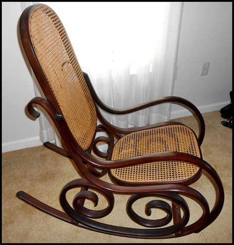 antique bentwood rocking chair value chairs home vintage thonet style italian bentwood rocking chair by