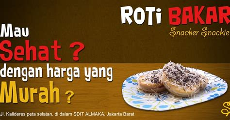 design banner roti archi artwork media cetak roti bakar