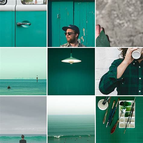 designtaxi instagram artist matches his instagram photos to the colors in the