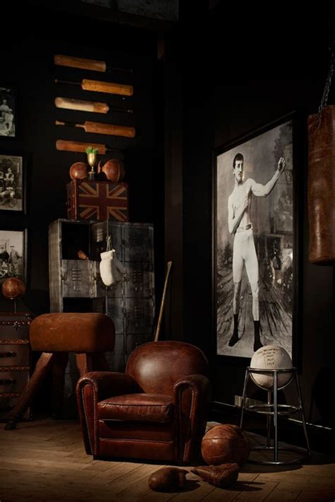 manly decor 20 vintage sport decorations for man cave house design