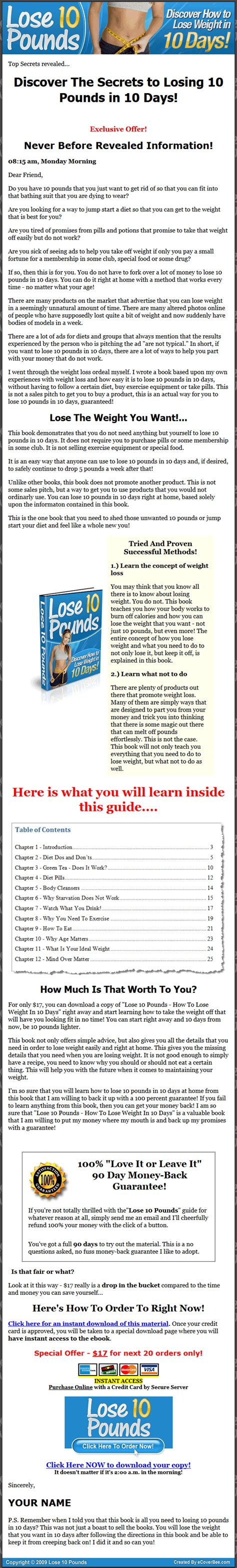 Plr Ebooks With Giveaway Rights - lose 10 pounds in 10 days plr ebook with private label rights