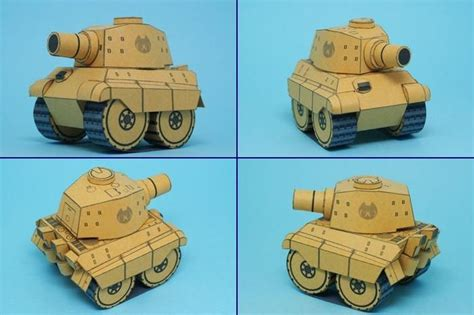 Papercraft Tanks - sd tiger king heavy tank papercraft papercraft paradise