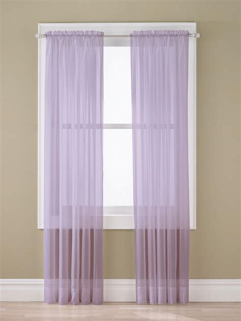 sheer lavender curtains essential home sheer voile panel lavender shop your