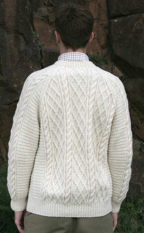 gents sweater knitting pattern gents mens knitted luxury aran sweater cairngorm by