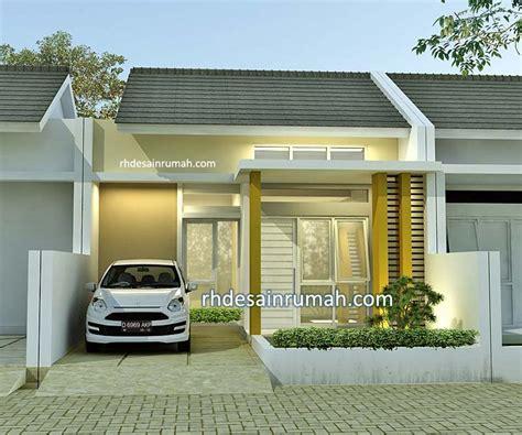 desain rumah   lantai contoh gambar denah fasade