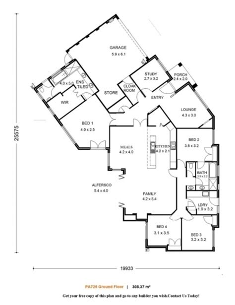 Architecture House Plans Single Storey House Floor Plans Single Storey Residential House Plans