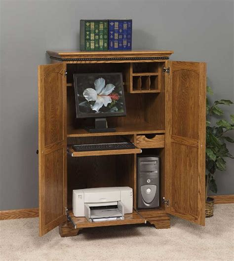 Small Corner Computer Armoire Computer Corner Armoire To Facilitate Your Work