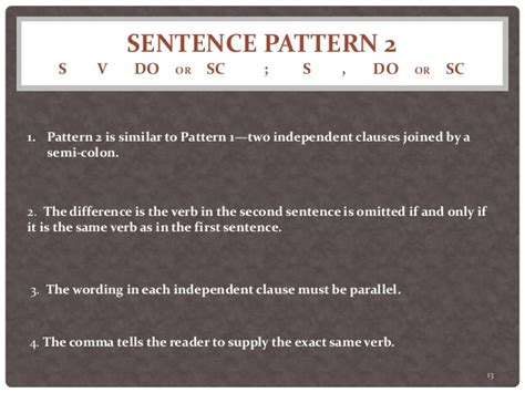 sentence pattern s lv sc twenty sentence patterns a brief description of patterns