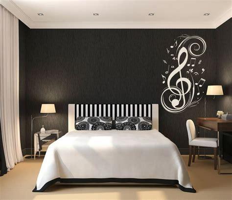 teen room black  white theme  boys bedroom concept  white tone symbol decoration