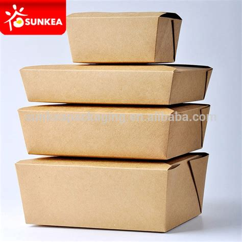 Paper Lunch Box L Lunch Box Kertas Kotak Kertas Food Container kraft paper food container take out box buy kraft food