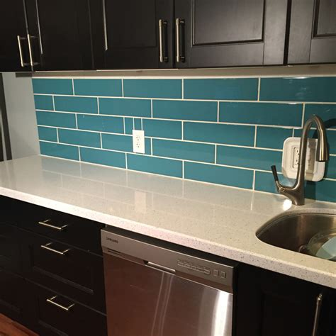 turquoise backsplash blog diy turquoise subway tile backsplash