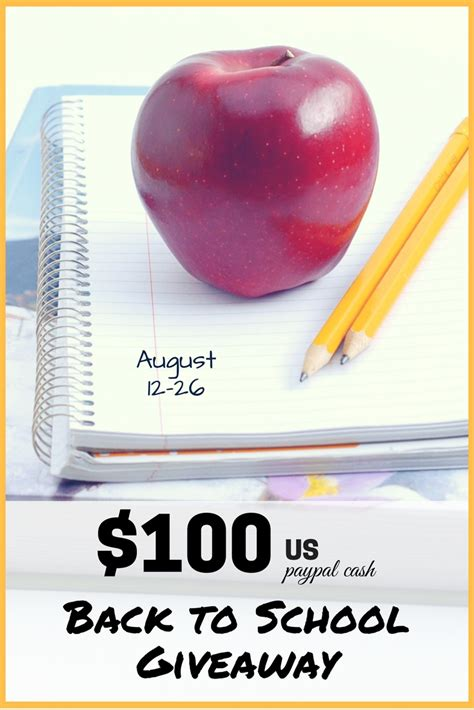 Today Show Great Cash Giveaway - back to school 100 paypal cash giveaway creative k kids
