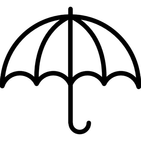 Open Umbrella Outline Icons Free Download Outline Pictures