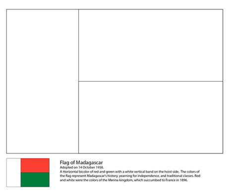 madagascar coloring flag images