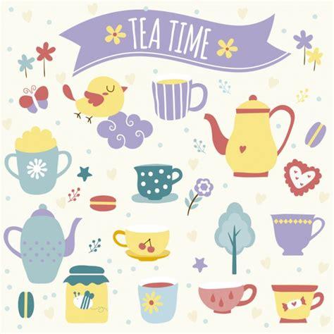 Tea time illustration Vector   Free Download