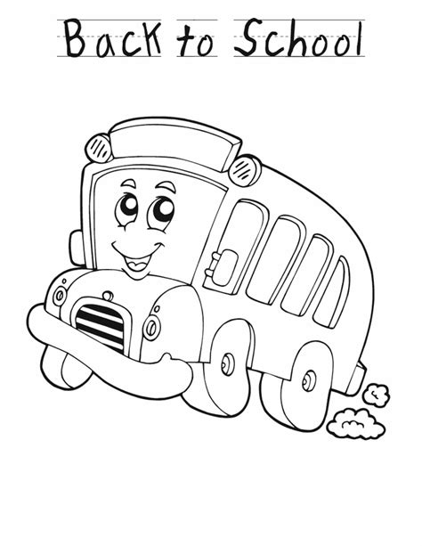 school bus cartoon images az coloring pages