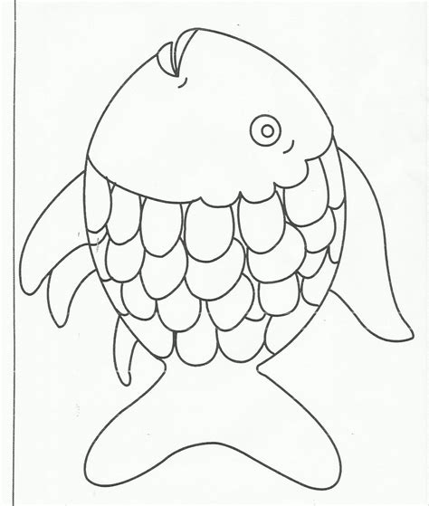 rainbow fish colouring template rainbow fish coloring page printable coloring page