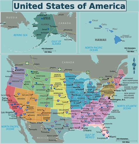 large map of usa large detailed regions map of the usa the usa large